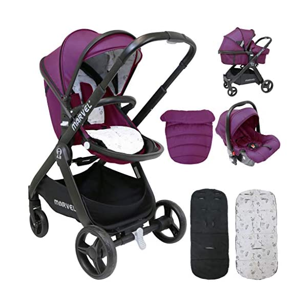 iSafe Marvel 2in1 Pram Travel System and Carseat - Marrone iSafe  1