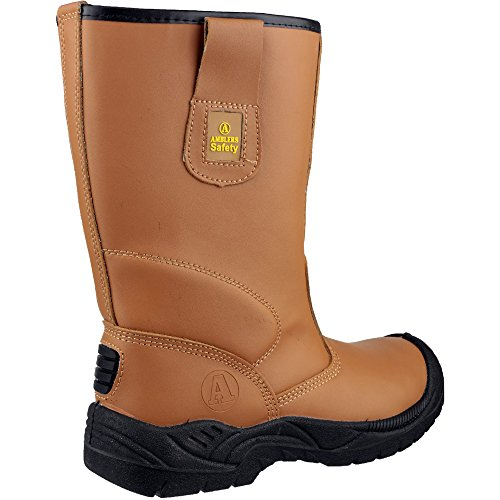 Amblers Safety Mens FS142 Leather Safety Rigger Boots Brown brown