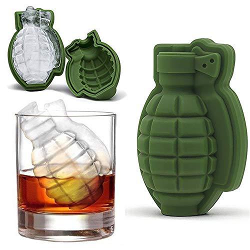 1 x 3D-Form Granaten-Form für Eiswürfel, Silikon, für Getränke, Whisky, Wein, Eis, Schokolade, Süßigkeiten (Granate Schokolade)