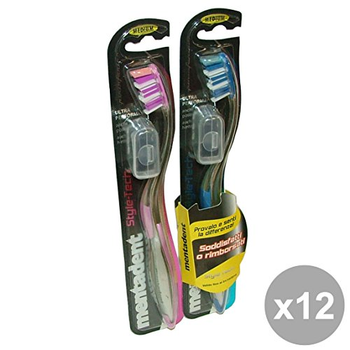 Set 12 MENTADENT Spazzolino style-tech per denti posteriori - Brosse à dents