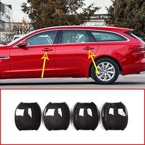 Style de Fibre de Carbone de Garniture de Couverture de Cuvette de poignée de Voiture en Plastique ABS extérieur pour XE, pour XF XFL 2016