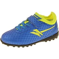 58c3d60736 Gola Activo5 Niño Niña Fútbol De Césped Artificial Calzado Deportivo Azul y  Amarillo EU 26