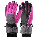 Fazi Trip 3 m Thinsulate Touch Screen Guanti, Antivento e Impermeabile Guanti da Donna, Funzione Come Guanti da Sci, Ciclismo, Scarpe da Corsa o Altri Sport in Inverno (Pink/Gray, S/M)