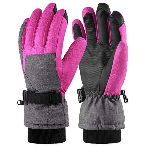 Fazitrip Skihandschuhe Damen Schi Handschuhe Snowboard Handschuhe Winter Sporthandschuhe