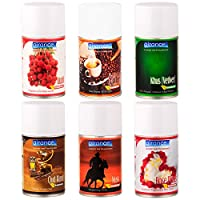 Airance Automatic Air Freshner Refill/Perfume Air Freshener Spray - 250 ML- Pack of Six - Fit All Machines Using 250 ML / 300 ML Bottles