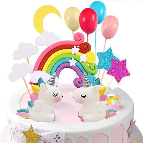Unicorn Cake Topper Cloud Rainbow Star Balloon Cake