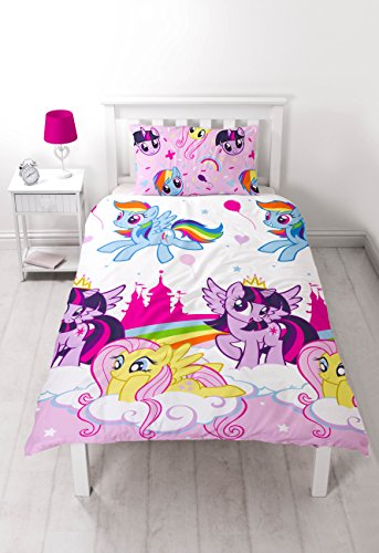 My Little Pony Equestria Set de edredón reversible , poliéster, multicolor, individual