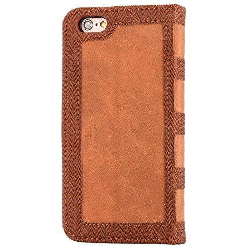 Phone case & Hülle Für iPhone 6 / 6s, Business Notebook Style Hit Farbe Horizontale Flip Leder Tasche mit Halter & Card Slots & Wallet & Photo Frame ( Color : Dark blue ) Brown
