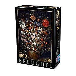 D-Toys 75840/BR 05 - Puzzle de 1000 Piezas, diseño de Breughel el Elder Flowers en una Valla de Madera