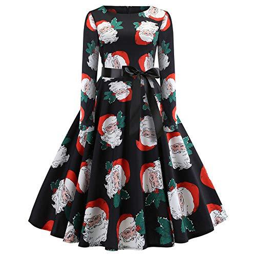 Weihnachten Kleider Damen UFODB Frauen Weihnachtskleid Kleid Swing -