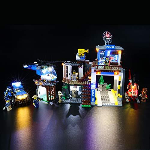 BRIKSMAX Kit de LED pour Lego City Le Poste de Police de Montagne,Compatible avec la Maquette Lego 60174, La Maquette de Construction n'est Pas Incluse