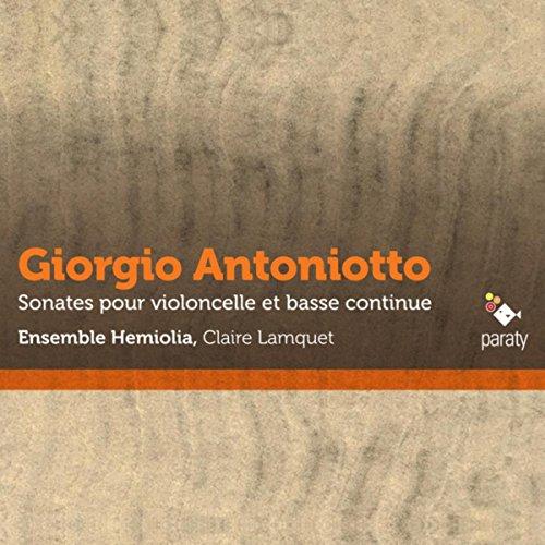 Antoniotto: Sonates pour violoncelle et basse continue
