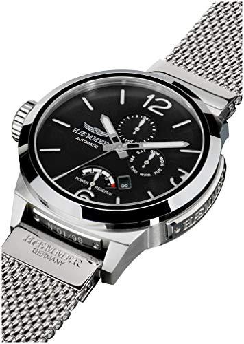 HÆMMER Tycoon Herren-Automatikuhr aus Edelstahl | Exklusiv Limitierte Herren-Uhr mit Milanaise Armband | Luxus-Uhr mit veredeltem Gehäuse