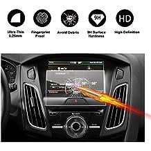 RUIYA Protector de pantalla de vidrio templado para (2013-2017) Ford Focus Electric