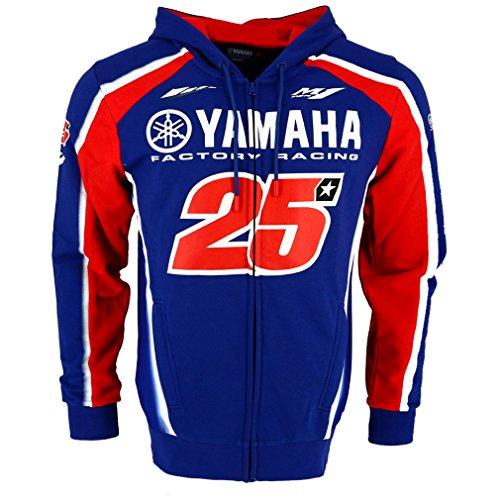 Maverick Vinales 25 Moto GP Yamaha Factory Racing Capucha Oficial 2018