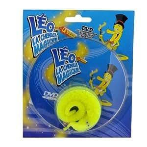 Léo la chenille magique avec verre, tomate et DVD : jaune