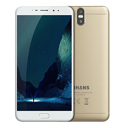 UHANS MAX 2 Smartphone 6,44 Zoll FHD Android 7.0, Octa-Core 4GB RAM + 64GB ROM 13.0MP + 2MP Rückfahrkamera + 13.0MP + 2MP Frontkamera 4300mAh Akku Fingerabdruckerkennung, Dual SIM Ohne Vertrag (Micro-max 4g Handy)