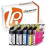 Bubprint 5 Druckerpatronen kompatibel für Brother LC-223 LC-225 LC-227 für DCP-J4120DW DCP-J562DW MFC-J4420DW MFC-J4620DW MFC-J480DW MFC-J5320DW