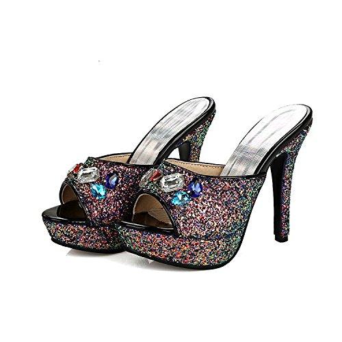 ZYUSHIZ Frauen Schuhe Sommer Die neue westliche Stilvolle Sandalen Hausschuhe 38EU