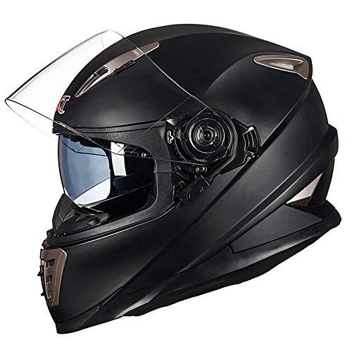 533 Quad (QMHG Motorradhelm Motocross Motorrad Helm,verwendet in ATV Go-Kart-Off-Road-Rennen Straßenrennen, Kopf Vollgesichts Fallschutz Kollision Sonnenschirm abnehmbare Unisex,A,M)