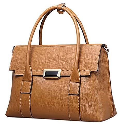 SAIERLONG Ladies Designer Womens Brown Luxury Quality Leather Handbags Shoulder Bags