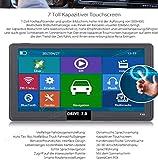 7Pulgadas GPS sistemas de navegación Navi Drive de 7.0para camiones, coches, caravanas, Bus. 256MB. Pantalla táctil capacitiva. Deutsche Comercial. Radar Warner, gratuita Update, 8GB. Incluye Parasol