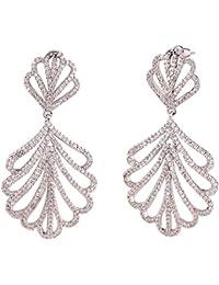 SHAZE Silver-Plated Elegant Earring For Womens |Earrings For Women|Earrings For Women Stylish