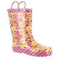 Western Chief Kids Ladybug Garden Rain Boot Pink 11
