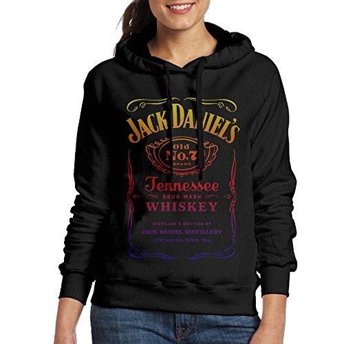 SSDDFF Mujeres de Jack Daniels Tennessee Whiskey Sudaderas con Capucha  Sudadera con Capucha Negro 27c1257e882