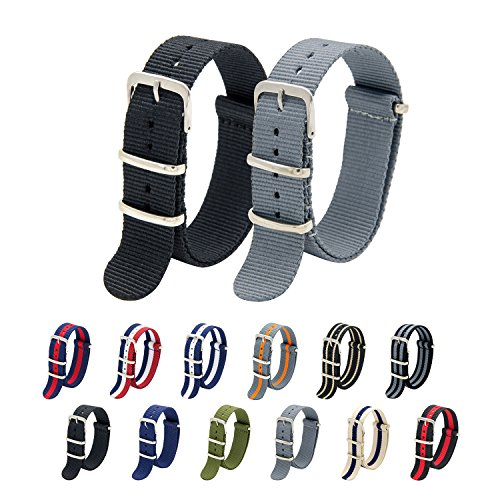 nato-strap-pack-of-2-20mm-22mm-premium-ballistic-nylon-watch-bands-with-stainless-steel-buckle-top-s