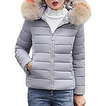 nueva selección calidad de marca calidad real Abrigo Plumas Mujer Largo - Gris - Amazon.es