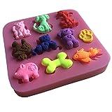 Karen Baking Viele Arten Tier, Katze, Vogel, Schwein, Fisch-Form 3D Silikon Backform für Kuchen-Fondant Dekorieren