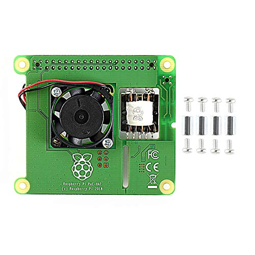 CQRobot Power Over Ethernet (PoE) Expansion Board, for Raspberry Pi 3 Model B+, Supporting 802.3af Network Standard, Used to Power Raspberry Pi,Fully Isolated Switched-Mode Power Supply, Fan Control.