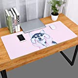 Thboxes Fashion Pattern Oversized Precision Pro Gaming Mouse Pad Computer Desk Mat Husky 700x360