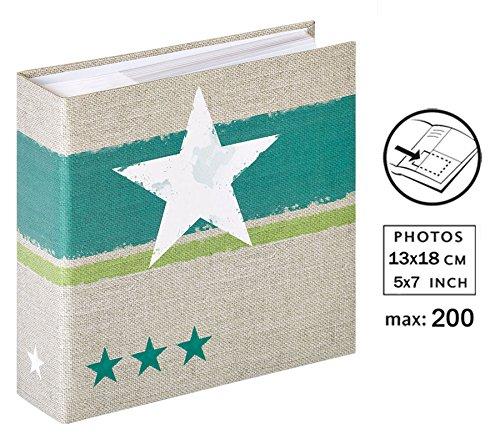 Stellar Fotoalbum für 200 Fotos in 13x18 cm Einsteck Foto Album: Farbe: Türkis