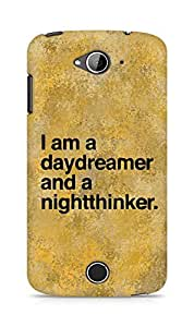 AMEZ daydreamer and night thinker Back Cover For Acer Liquid Z530