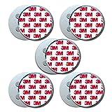 HaftPlus - Magnethalter für Rauchmelder 5 Stück, Universal Magnetbefestigung selbstklebend für alle Brandmelder Größen, Magnethalterung mit 4 starken Neodym Magneten - Ø 70mm