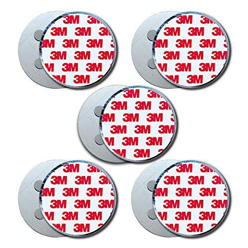 HaftPlus - Magnethalter für Rauchmelder 5 Stück, Universal Magnetbefestigung selbstklebend für...
