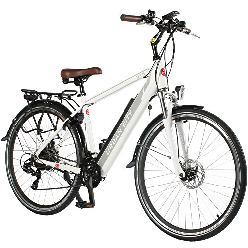 "51vUmp8zV0L. SS500  - AsVIVA Unisex - Adults E-Bike CityBike 28"" B15-H 36V Trekking Bike Electric Bike Pedelec White, One Size"