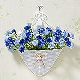 Beata.T Künstliche Blumen Set Hängende Korb Simulation Kleine Chrysantheme Blume Gefälschte Blume Wohnzimmer Tv Wand Schlafzimmer Heimtextilien Blumen, Fe