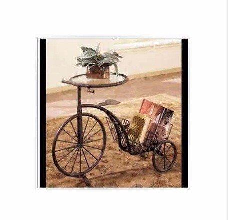 Hop-lghccbureaux de verre _ vélo magazine rack le fer,le bronze