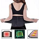 Bauchweggürtel,Charminer Rückengurt Rückenstützgürtel BauchgürtelFitnessgürtel Rückenbandage mit Stabilisierungsstäben+Atmungsaktiv+Schmerzlinderung/Wärmegürtel mit Turmalin+Selbsterwärmende Schwarz XXL