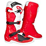 Alpinestars Bottes Moto Cross Tech 3 Rouge Blanc