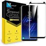 For Samsung Galaxy S9 Curve Tempered Glass Gorilla Screen Protector Screen Guard High Premium Quality 9H Hard 2.5D Ultra Clear (Black)