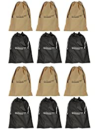 Shoeshine India Travel Shoe Bag / Shoe Storage Pouch (Set of 12 Pcs)