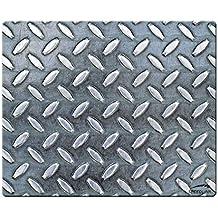 Speedlink Crome Mauspad stylishes Metallmuster (weiche Oberfläche, geringer Gleitwiderstand, gummierte Unterseite, verschiedene Motive) (Generalüberholt)