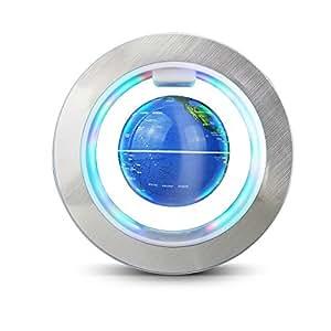 Easy Eagle 4 Pouces Globe Teresstre Magnétique Lévitation Rotatif Lumineux Cadeau de Fête Décoration Maison Bureau Chambre - Bleu