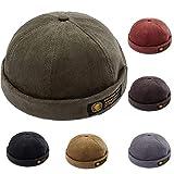YAMEE Docker-Cap Docker Mütze Seemannsmütze Hafenmütze Bikercap Basecap ganzjährig Tragbar Hat (Grün)