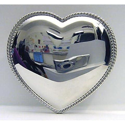 Fibbia a forma di cuore, 3D, lucido, Bling, Bling
