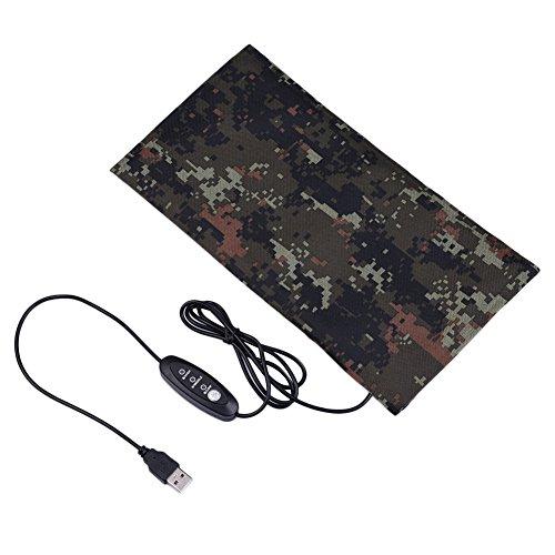 Estera de calefacción de reptiles Hoja de calentamiento USB Fibra de carbono para animales pequeños...
